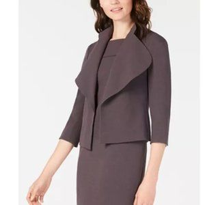 NEW Anne Klein Cascade-Lapel Blazer JACKET 14